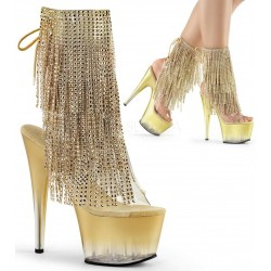 Gold Rhinestone Fringe 7 Inch Heel Ankle Boot ShoeOodles Shoes for Women, Men and Children  Oodles of Shoes for Men, Women & Children