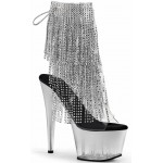Silver Rhinestone Fringe 7 Inch Heel Ankle Boot at ShoeOodles Shoes for Women, Men and Children,  Oodles of Shoes for Men, Women & Children