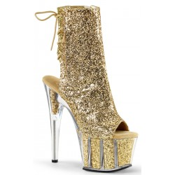 Gold Glittered Platform Ankle Boot ShoeOodles Shoes for Women, Men and Children  Oodles of Shoes for Men, Women & Children