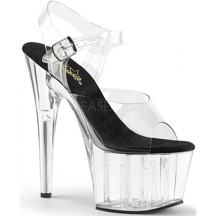 853db3552 Clear Platform Clear Strap Platform Sandal | Exotic Dancing Shoes