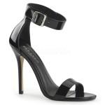 Amuse Black Ankle Strap Sandal at ShoeOodles Shoes for Women, Men and Children,  Oodles of Shoes for Men, Women & Children