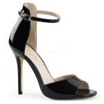 Amuse Black Raised Back Peep Toe Sandal at ShoeOodles Shoes for Women, Men and Children,  Oodles of Shoes for Men, Women & Children