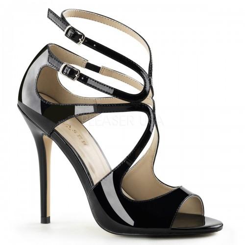 Amuse Black Curvy Sandal at ShoeOodles Shoes for Women, Men and Children,  Oodles of Shoes for Men, Women & Children