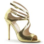 Amuse Metallic Gold Curvy Sandal at ShoeOodles Shoes for Women, Men and Children,  Oodles of Shoes for Men, Women & Children