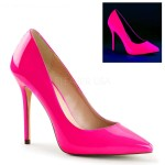 Amuse Neon Fuchsia 5 Inch High Heel Pump at ShoeOodles Shoes for Women, Men and Children,  Oodles of Shoes for Men, Women & Children