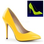Amuse Neon Yellow 5 Inch High Heel Pump at ShoeOodles Shoes for Women, Men and Children,  Oodles of Shoes for Men, Women & Children
