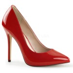 Amuse Red 5 Inch High Heel Pump at ShoeOodles Shoes for Women, Men and Children,  Oodles of Shoes for Men, Women & Children