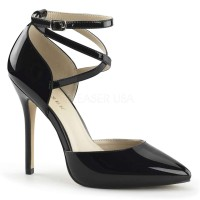Dorsey Criss Cross Ankle Strap Black Amuse Pump