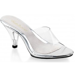 Belle Clear Peep Toe Slide