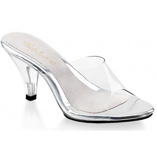 Belle Clear Peep Toe Slide