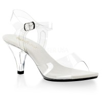 Belle Clear Peep Toe Sandal
