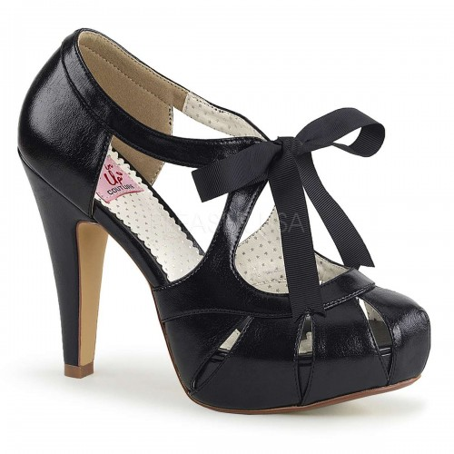 Bettie Black High Heel Vintage Pump at ShoeOodles Shoes for Women, Men and Children,  Oodles of Shoes for Men, Women & Children