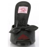Monroe Black Slide with Bow at ShoeOodles Shoes for Women, Men and Children,  Oodles of Shoes for Men, Women & Children