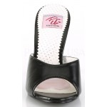 Monroe Rhinestone Heeled Black Slides at ShoeOodles Shoes for Women, Men and Children,  Oodles of Shoes for Men, Women & Children