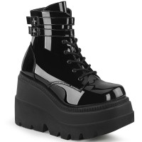 Shaker 52 Lace Up Black Patent Ankle Boot