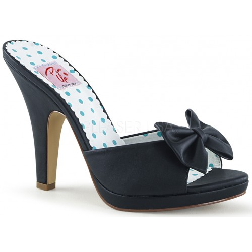 Siren Black Mule with Bow at ShoeOodles Shoes for Women, Men and Children,  Oodles of Shoes for Men, Women & Children