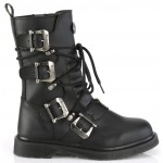 Bolt Mens Strapped Combat Mid-Calf Boot