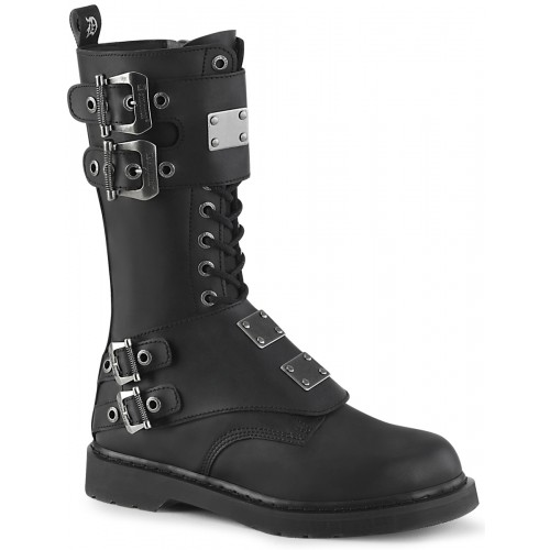 Bolt Mens Combat 14-Eyelet Boot with Metal Plates