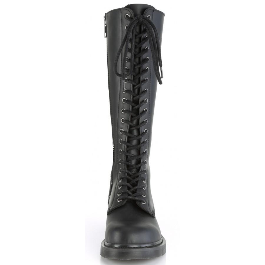 Bolt Mens Knee High Combat Boots 20 Eyelet - Vegan Leather Combat Boots