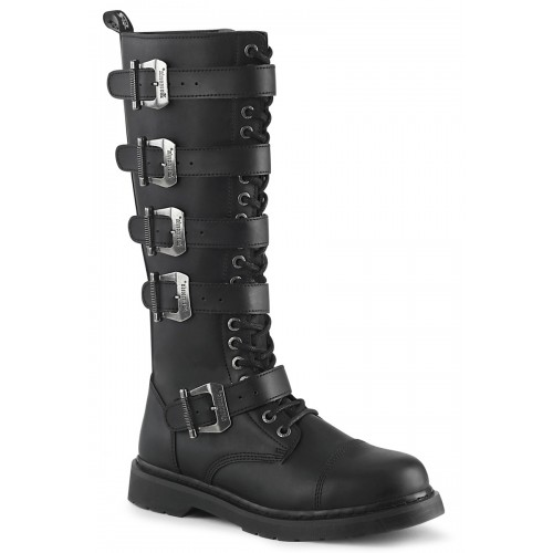 Bolt Mens Knee High Combat Boot with Buckled Straps at ShoeOodles Shoes for Women, Men and Children,  Oodles of Shoes for Men, Women & Children
