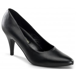 Black Faux Leather Essential Pump 420 3 Inch Heel Shoe ShoeOodles Shoes for Women, Men and Children  Oodles of Shoes for Men, Women & Children