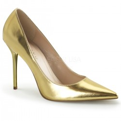 Gold Classique Pointed Toe Pump ShoeOodles Shoes for Women, Men and Children  Oodles of Shoes for Men, Women & Children