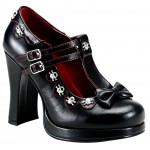 Crypto T-Strap Skull Pump at ShoeOodles Shoes for Women, Men and Children,  Oodles of Shoes for Men, Women & Children