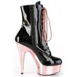 Delight Rose Gold Platform Granny Boot at ShoeOodles Shoes for Women, Men and Children,  Oodles of Shoes for Men, Women & Children