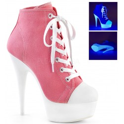 Pink and White High Heel Platform Sneaker ShoeOodles Shoes for Women, Men and Children  Oodles of Shoes for Men, Women & Children