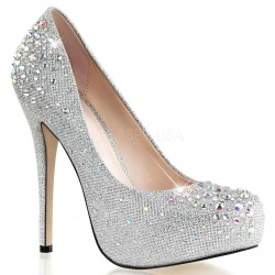 Destiny Silver Rhinestone Embellished Pumps ShoeOodles Shoes for Women, Men and Children  Oodles of Shoes for Men, Women & Children