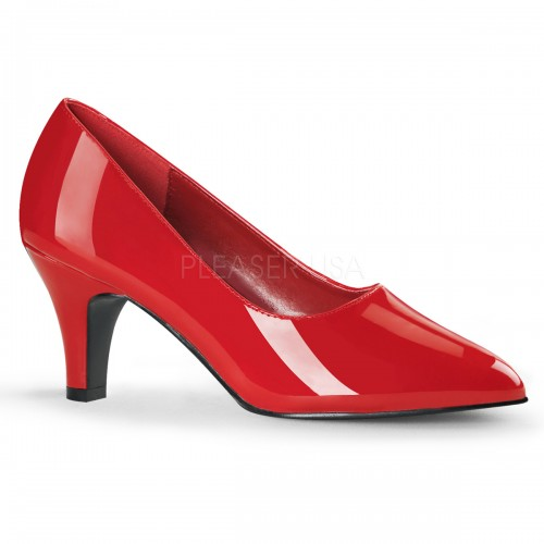 Divine Red Wide Width Pump at ShoeOodles Shoes for Women, Men and Children,  Oodles of Shoes for Men, Women & Children