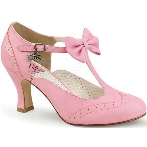 Flapper Pink T-Strap Pump at ShoeOodles Shoes for Women, Men and Children,  Oodles of Shoes for Men, Women & Children
