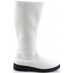 Captain Mid Calf Plain White Stormtrooper Boots ShoeOodles Shoes for Women, Men and Children  Oodles of Shoes for Men, Women & Children