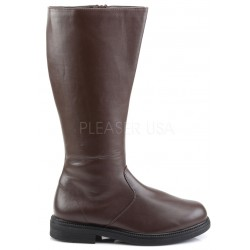 Captain Mid Calf Plain Brown Boots ShoeOodles Shoes for Women, Men and Children  Oodles of Shoes for Men, Women & Children