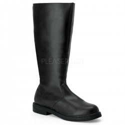Captain Mid Calf Plain Black Boots ShoeOodles Shoes for Women, Men and Children  Oodles of Shoes for Men, Women & Children