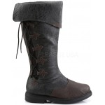 Distressed Black Rennaissance Costume Boots at ShoeOodles,  Oodles of Shoes for Men, Women & Children