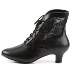 Victorian Dame Black Ankle Boot at ShoeOodles Shoes for Women, Men and Children,  Oodles of Shoes for Men, Women & Children