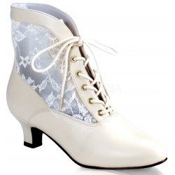 Victorian Dame Ivory Ankle Boot ShoeOodles Shoes for Women, Men and Children  Oodles of Shoes for Men, Women & Children