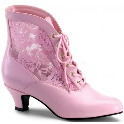Victorian Dame Baby Pink Ankle Boot ShoeOodles Shoes for Women, Men and Children  Oodles of Shoes for Men, Women & Children