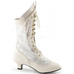 Victorian Dame Ivory Lace Boot ShoeOodles Shoes for Women, Men and Children  Oodles of Shoes for Men, Women & Children