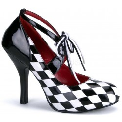 Harlequinn Black and White Checkered Pump ShoeOodles Shoes for Women, Men and Children  Oodles of Shoes for Men, Women & Children