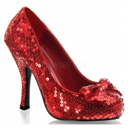 Oz Red Sequin High Heel Pump ShoeOodles Shoes for Women, Men and Children  Oodles of Shoes for Men, Women & Children