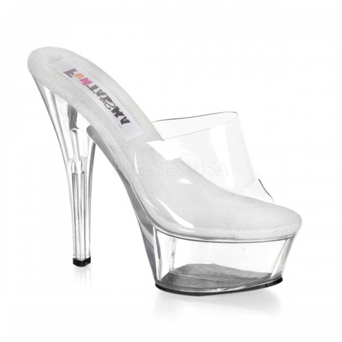 Princess Clear Vamp Peep Toe Mule at ShoeOodles Shoes for Women, Men and Children,  Oodles of Shoes for Men, Women & Children