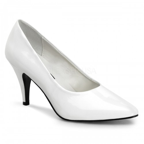 White Classic Pump 420 with 3 Inch Heel at ShoeOodles Shoes for Women, Men and Children,  Oodles of Shoes for Men, Women & Children