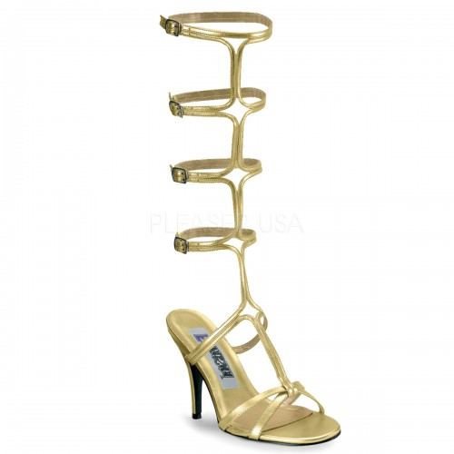 Roman Gold Gladiator Mule Sandal at ShoeOodles Shoes for Women, Men and Children,  Oodles of Shoes for Men, Women & Children