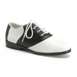 Saddle Shoe Black and White Womens Flat Oxford ShoeOodles Shoes for Women, Men and Children  Oodles of Shoes for Men, Women & Children