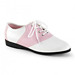 Saddle Shoe Pink and White Womens Flat Oxford ShoeOodles Shoes for Women, Men and Children  Oodles of Shoes for Men, Women & Children