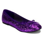 Star Deep Purple Glittered Ballet Flat at ShoeOodles Shoes for Women, Men and Children,  Oodles of Shoes for Men, Women & Children