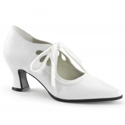 Victorian White Cut Out Womens Pump