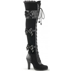 Glam Victorian Lace Gothic Over the Knee Boot ShoeOodles Shoes for Women, Men and Children  Oodles of Shoes for Men, Women & Children